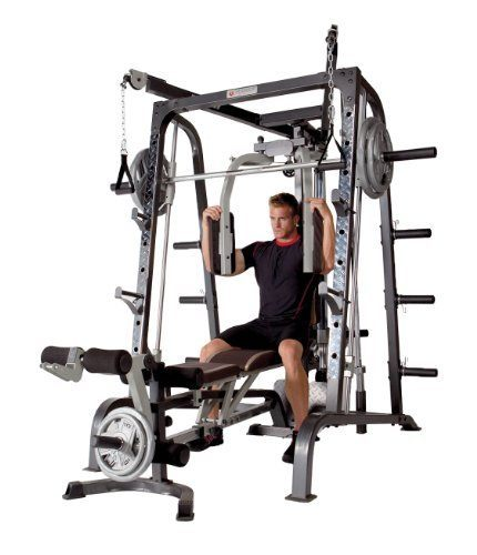Best home gym smith machine hip